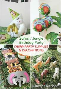 Jungle Themed First Birthday Decorations - safari jungle themed first birthday party cheap party