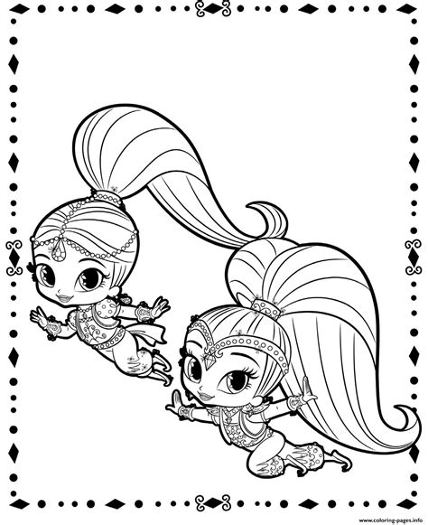 printable coloring pages shimmer and shine fluing genies shimmer and shine coloring pages printable