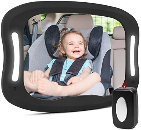 baby car mirror with remote and lights baby car mirror with remote led light shatter