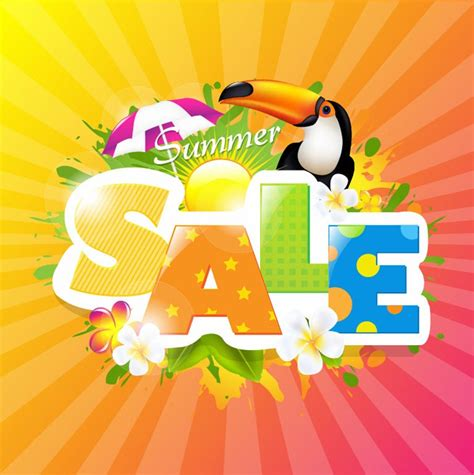summer sale design template vector graphic free vector eps10