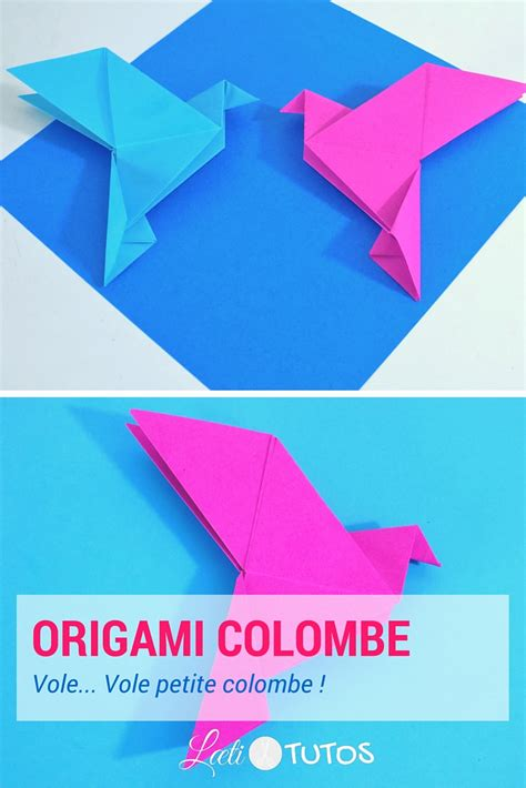 Origami Fr - comment faire une colombe en origami tutoriel facile