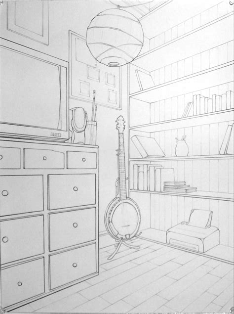 Two Point Perspective Interior by For Homework 2 Point Perspective Interior Images Frompo