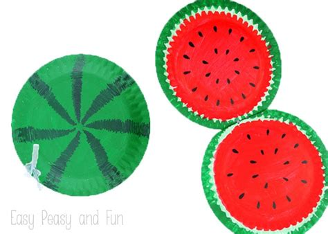 crafts made from paper plates paper plate watermelon paper plate crafts easy peasy