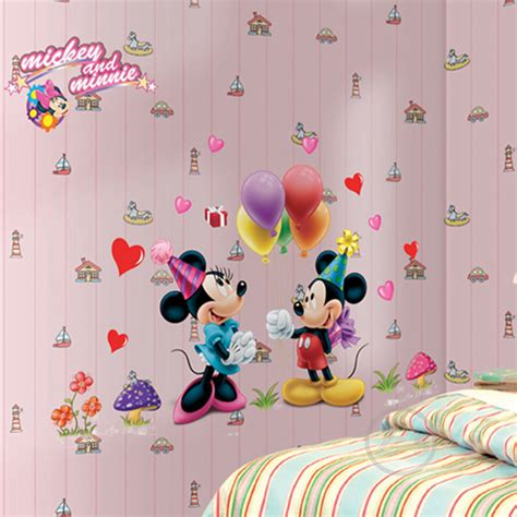 mickey mouse and minnie mouse wall sticker home decor aliexpress com buy mickey mouse minnie mouse wall