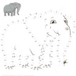 elephant dot dot free printable coloring pages
