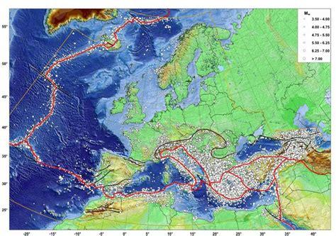 earthquake europe european earthquake catalogue volctonics