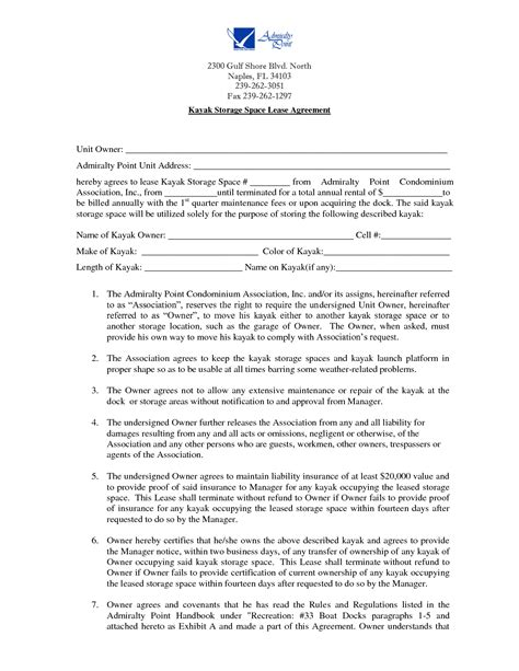 storage rental agreement template storage space lease agreement by kte19424 storage lease