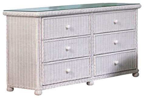 wicker 6 drawer dresser elana tropical furniture