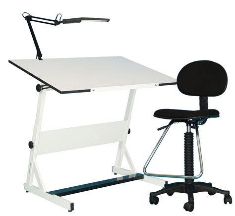 Save On Discount Utrecht 3 Piece Contemporary Drafting Drafting Table Set