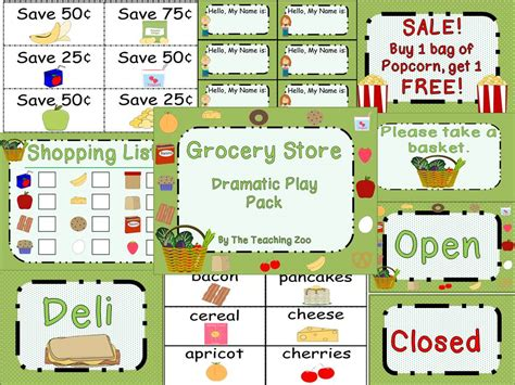 play store themes free grocery store dramatic play pack dramatic play centers