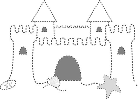 castle drawing template sand castle clip at clker vector clip