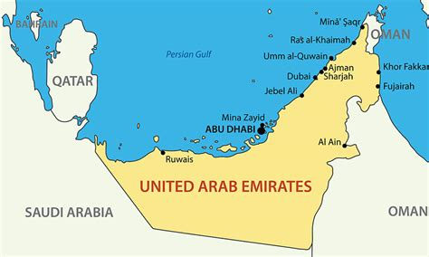 map abu dhabi and dubai dubai map