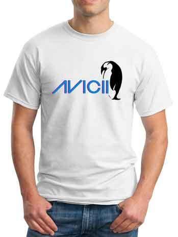 Avicii 5 T Shirt Size L avicii t shirt penguin ardamus dj t shirt
