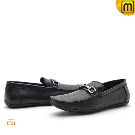 loafer drivers mens black leather driving loafers cw712395