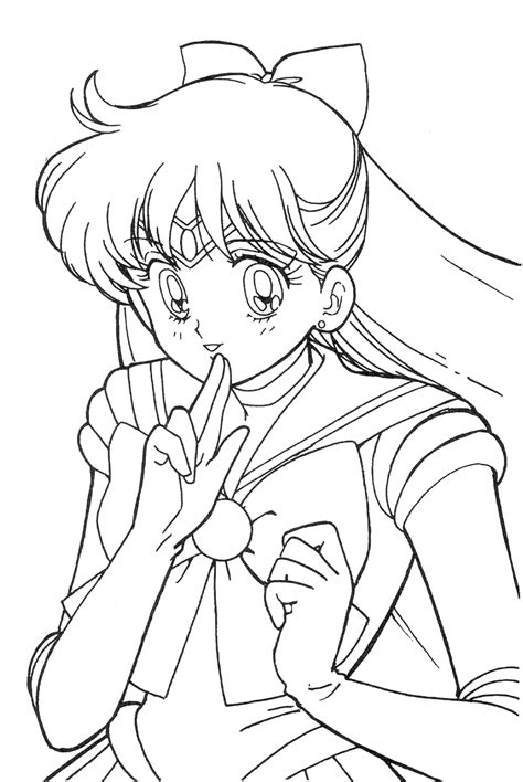 Sailor Venus Coloring Pages s sailor moon colouring book