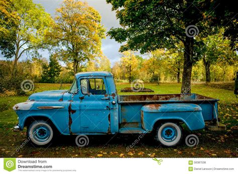 classic colors sky blue truck editorial stock photo image 56387538
