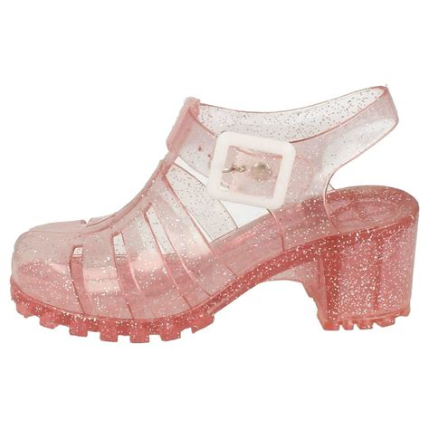 Sendal Wedges Jelly Transparan Gliters 210 spot on glitter jelly shoes ebay