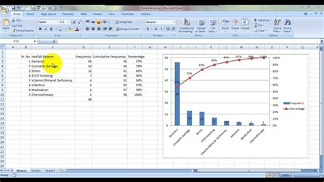 Pareto Chart In Excel 2010 Pdf Create A Pareto Chart Youtubepareto In Powerpointbasic Template Excel 2010 Pareto Chart Template