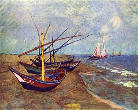 fishing boat on the beach vincent van gogh fishing boats on the beach at saints