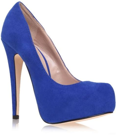 blue platform high heels carvela kurt geiger kaci high heel platform court shoes in