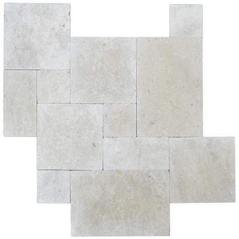 french pattern travertine tiles ivory tumbled french pattern travertine pavers atlantic