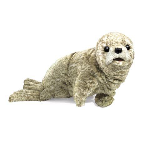 Boneka Harbor Seal Stuffed Animal Jumbo harbor seal puppet by folkmanis puppets