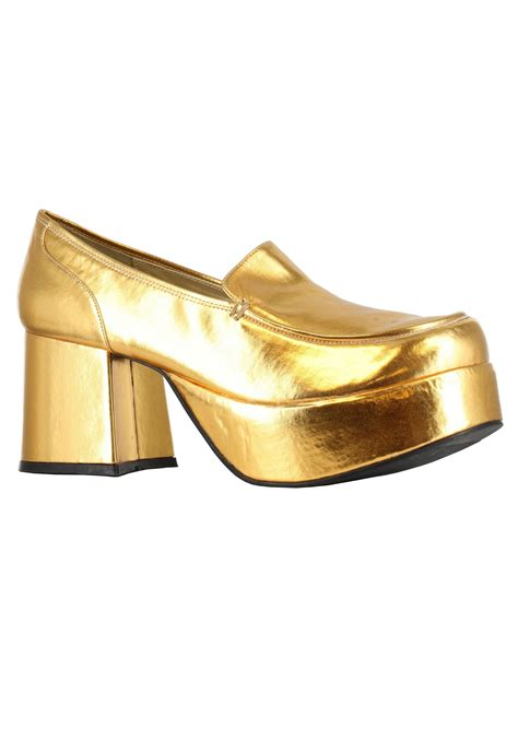 slippers heels gold daddio pimp shoes