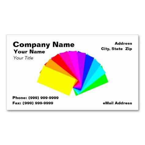 Paint Chip Business Cards