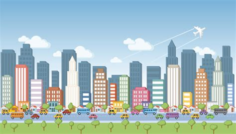 City Landscape Vector City Landscape Vector Free Vector 2 381 Free