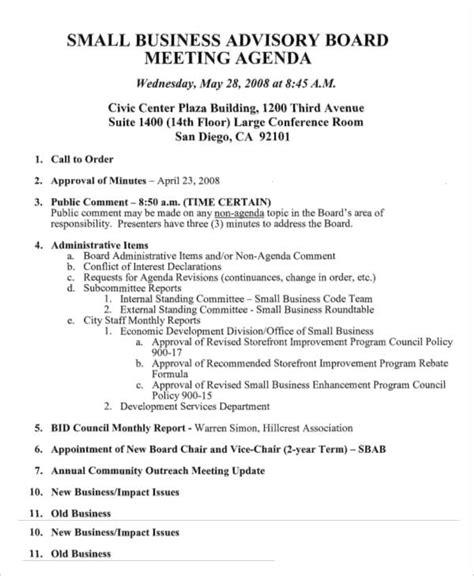 11 Advisory Agenda Templates Free Word Pdf Format Download Free Premium Templates Advisory Board Meeting Minutes Template