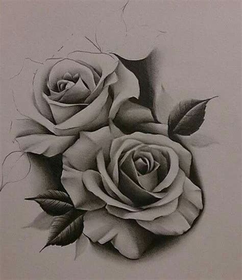 two rose tattoo drawing at getdrawings free for personal