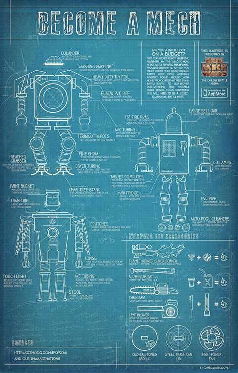 build blueprints build your own mech blueprints for diy pinterest
