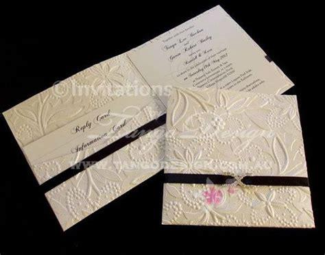 Handmade Paper Wedding Invitations - pocket wedding invitation sle embossed handmade paper