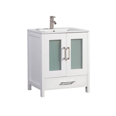 Shop Mtd Vanities White Integral Single Sink Bathroom 24 X 18 Bathroom Vanity