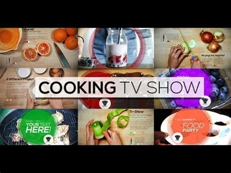 Cooking Show Template Cooking Tv Show After Effects Template
