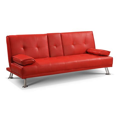 red faux leather sofa bed red faux leather sofa shop for cheap sofas and save online