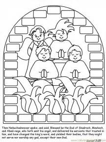 shadrach meshach and abednego coloring page coloring pages shadrach meshach and abednego peoples