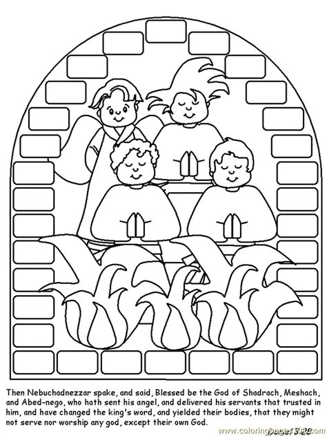 shadrach meshach and abednego coloring page free