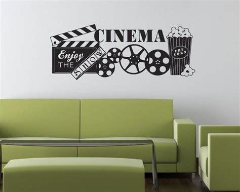 57x22 cinema popcorn theater show vinyl decor wall