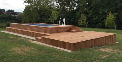 piscine fuori terra rivestite in legno piscina fuoriterra in legno con piscine fuori terra