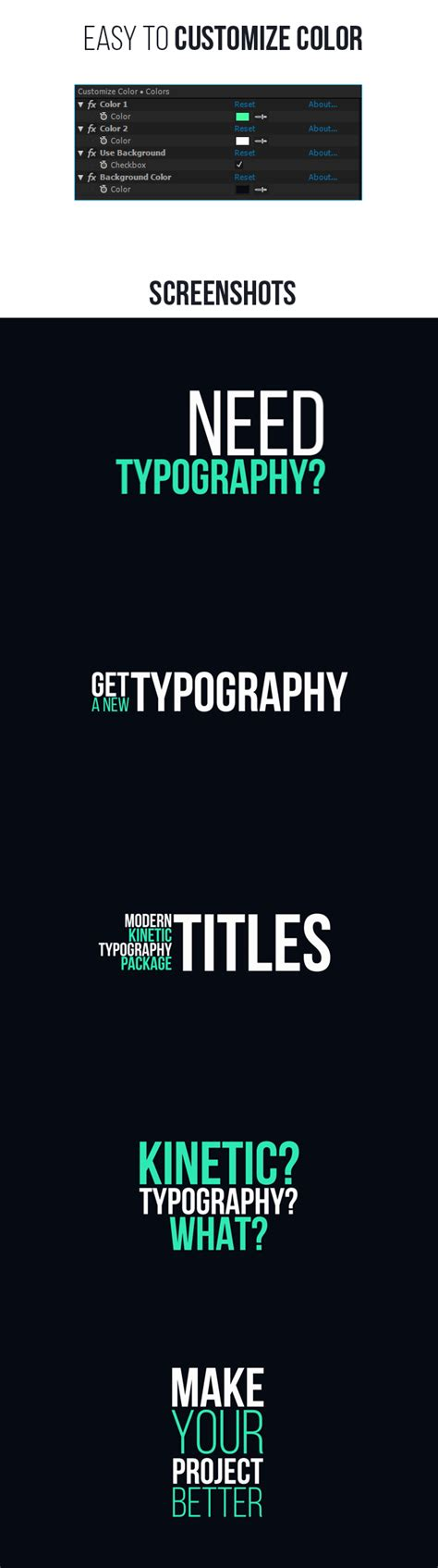 typography after effects typography after effects project