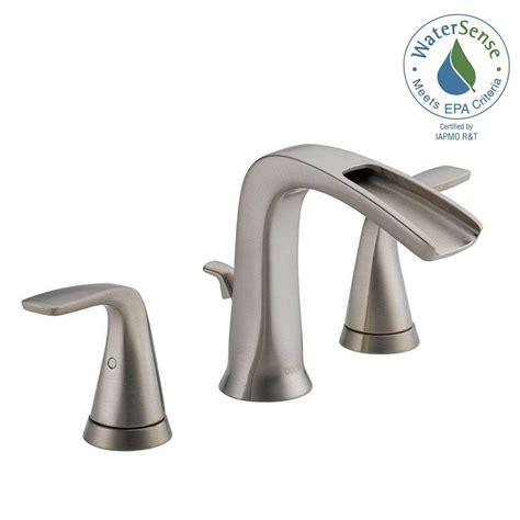 Delta Widespread Faucet by Delta Tolva 8 In Widespread 2 Handle Bathroom Faucet In