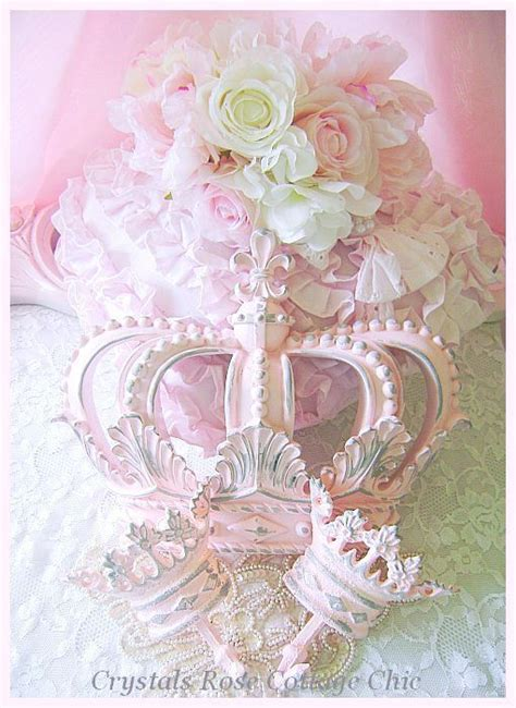 shabby chic bed crown shabby pink fleur de lis bed crown set crowns