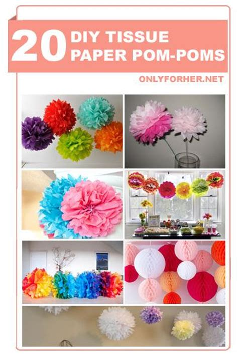 How To Make Tissue Paper Pom Pom Balls - 20 diy tissue paper pom poms trusper