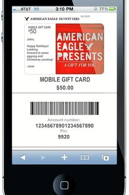 Check American Eagle Gift Card Balance - mobile phone get closer to becoming mobile wallet telecompk