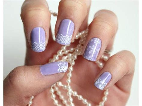 Simple Lace Wedding Nails wedding nails bridal nail designs manicures today