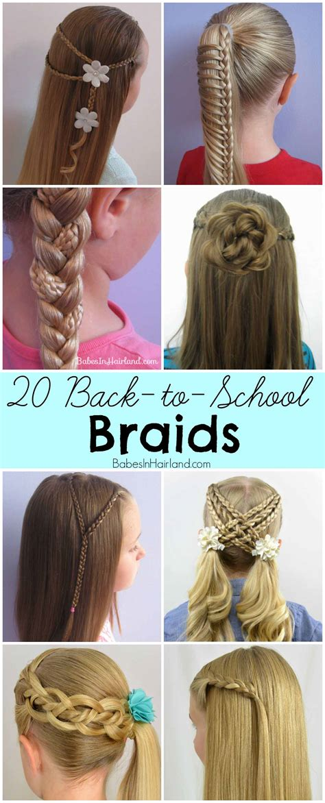 how to do easy back to school braid hairstyles for long 20 back to school braids babes in hairland