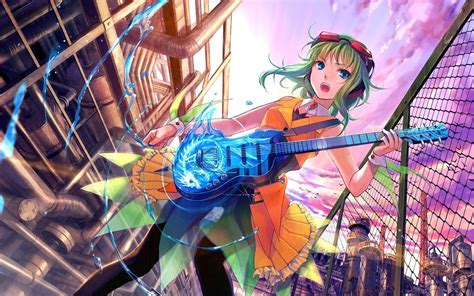 anime girl playing guitar wallpaper anime girl with guitar wallpaper android wallpaper