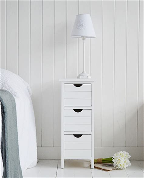 Narrow White Bedside Table Dorset 25cm Narrow White Bedside Table Bedroom Furniture