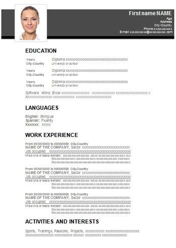 Lebenslauf Muster Als Word Datei als pdf datei photos